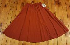 NWT Jacqueline Ferrar 14 brick red long a line modest skirt autumn fall colors