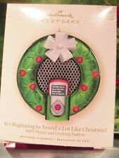 Hallmark Ornament It's Beginning to Sound Like Christmas MP3 Player Dock 2007