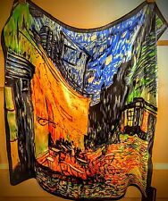 """NWT! Museum Collection Gorgeous 100% Silk Van Gogh 20"""" Square Silk Scarf"""