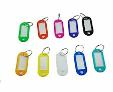 Yueton Pack of 50 Colorful Key ID Label Tags Split Ring Keyring Keychain