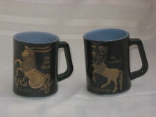 Federal Horoscope Zodiac Mugs Sagittarius The Archer, Capricorn Sea Goat 2 Mugs