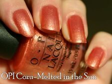 NEW! OPI NAIL POLISH Nail Lacquer in COZU-MELTED IN THE SUN ~ Beige-pink shimmer