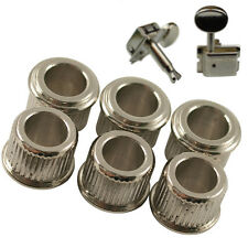 6 Chrome Conversion Adaptor Bushings for Genuine Kluson Tuners Machine Heads