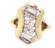 14k yellow gold 0.54ct VS1-G diamond cluster cocktail ring size 2.75