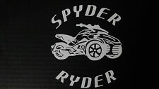 CAN-AM SPYDER  F3 SPYDER RYDER - WINDOW DECAL / STICKER  - 13 colors