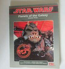 planetas of the galaxy volumen tres 3 star wars RPG sci-fi libro rol play WEG