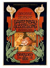 Gardening Exhibition, Dresden Germany 1900 ART REPRO Vintage Postcard