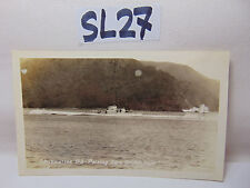 VINTAGE 1920'S US NAVY PICTURE POSTCARD SUBMARINE SUB V-3 PASSING GOLDEN GATE