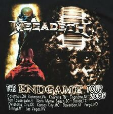 MEGADETH Rock The End Game Tour 2009 Black T-Shirt Size M