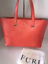 NWT FURLA LARGE STACY SAFFIANO LEATHER SHOPPER TOTE BAG HIBISCUS $448