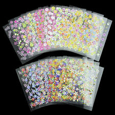 24 SHEETS!! NAIL ART 3D STICKERS FLORAL FLOWER 3D DESIGN NAIL STICKERS JH158