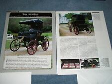 "1896 Roberts Electric Car History Info Article ""Truly Horseless"""