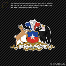 Chilean Coat of Arms Sticker Decal Self Adhesive Vinyl Chile flag CHL CL