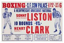 Sonny Liston vs Henry Clark  **LARGE POSTER** Boxing Champion  MUST SEE