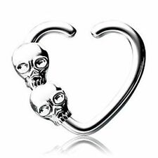 16G SMALL SKULL Seamless Ring Stainless Cartilage Daith Tragus piercing jewelry