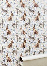 NIP Anthropologie GARDEN MEANDER WALLPAPER Rabbits Hares USA