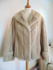 STUNNING Palamino Mink Short Jacket With Ivory Leather Inserts