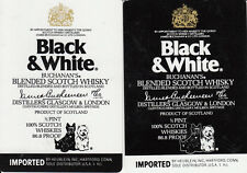 Vintage Swap/Playing Cards - 2 SINGLE- Wides - Black & White Scotch Whisky