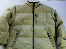 Abercrombie & Fitch Mens PUFFY WINTER COAT JACKET WATER RESISTANCE BEIGE L NWT