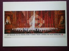 POSTCARD LTM-268 LONDON TRANSPORT 1986 POSTER 'CURTAINS FOR YOUR RAILCARD'