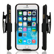 New Combo Armor Case Cover with Belt Clip Holster Shell for iPhone 6 4.7'' Black