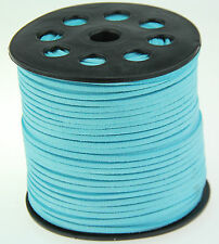 10ya 3mm blue Suede Leather String Jewelry Making Thread Cords