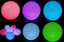 "5.7"" 6 Colour Changing Rainbow LED Light Soft ORB Globe Sphere Ball Flash Glow"