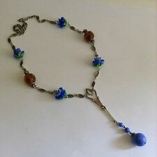 Art Deco Glass Drop Necklace