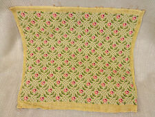 Victorian Needlepoint Fabric Upholstery Panel Embroidery Trellis Rose Antique