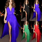 Sexy Formal Side Split Bandage Prom Cocktail Clubwear Evening Chiffon Long Dress