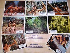 TARZAN et l'enfant de la jungle !  rare jeu 16  photos cinema lobby card 1968