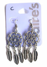 CLAIRE'S, DREAMCATCHER, FEATHER & CRYSTAL CENTRE EARRINGS