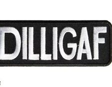 DILLIGAF Patch, Tab Funny Biker Sayings Patches