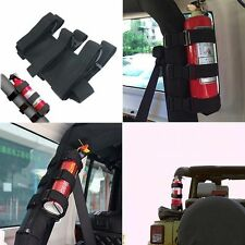 Roll Bar Fire Extinguisher Holder Safety Kit For Jeep Wrangler Truck SUV ATV Car