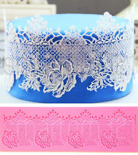 HUGE Floral LACE Silicone Fondant Icing Mould Wedding Cake Decoration Sugarcraft