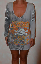 jolie robe grise SMET  taille XS ** NEUVE ÉTIQUETTE **