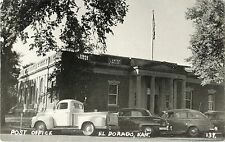 A View of the U.S. Post Office, 40's Autos Parked in Front, El Dorado KS