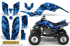 YAMAHA RAPTOR 660 GRAPHICS KIT CREATORX DECALS STICKERS INFERNO BLUE