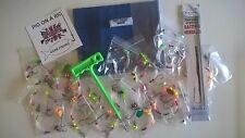 Sea fishing Rigs x 25 with wallet,disgorger, bait needles - Summer / winter rigs