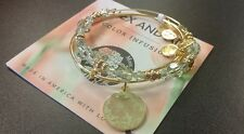 ALEX AND ANI MOM COLOR INFUSION SET SHINY GOLD BRACELET NEW W/BOX