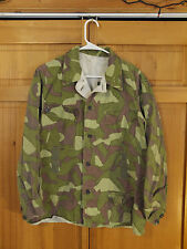 Finnish Army M/62 Reversible Woodland Camo Jacket, Size Large