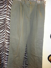 MENS DOCKERS OLIVE PLEATED FRONT PANTS   36X30