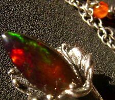 CeS Kette äthiopischer Feueropal und mexikanischer Feueropal / mexican opal