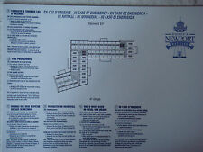 Plan original Hotel Disney Newport Bay Club - 4 EF - DISNEYLAND Paris NEUF