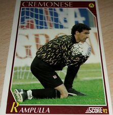 CARD SCORE 1992 CREMONESE RAMPULLA CALCIO FOOTBALL SOCCER ALBUM