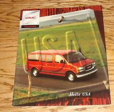 Original 1998 GMC Savana Sales Brochure 98