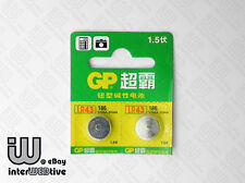 2 x NEW GP LR43 LR 43 AG12 186 386 RW84 SR43 L1142 301A 12AG Button Cell Battery