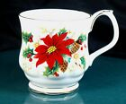 Royal Albert Poinsettia Montrose Shape Mugs - Excellent Condition - Seconds