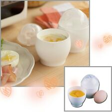 2Pcs White Microwave Oven Cup Poacher Cooking Quick Eggs Cooker