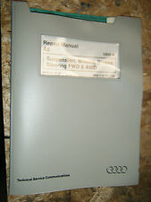 1998 AUDI A6 SUSPENSION BRAKES STEERING FWD & AWD FACTORY SERVICE MANUAL REPAIR
